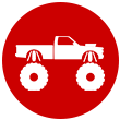 Lifted truck icon