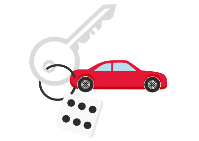 Car on a key chain